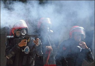 police-firing-tear-gas
